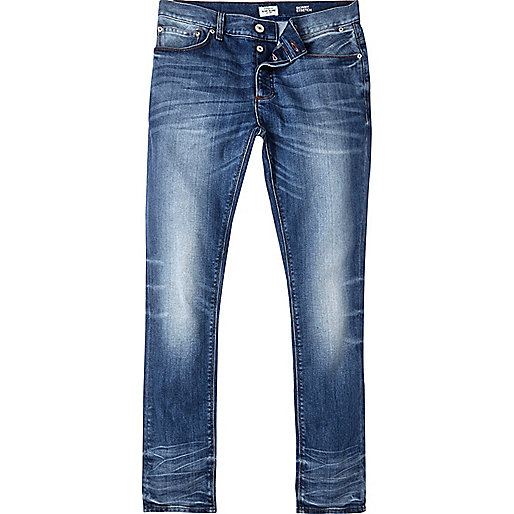 Blue vintage wash Sid skinny jeans