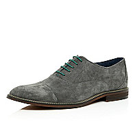 Grey suede smart lace up shoes