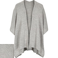 Grey knitted cape