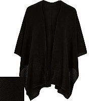 Black knitted cape