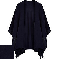 Navy knitted cape