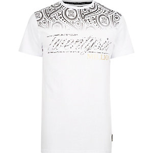 White 26 Million fade print t-shirt