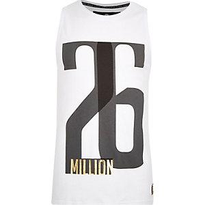 White 26 Million print vest