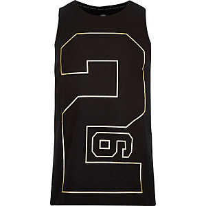 Black 26 Million number print vest
