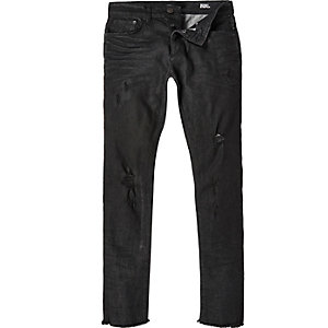 Black Sid distressed skinny stretch jeans