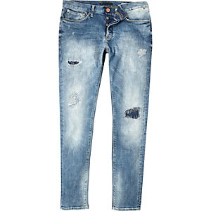 Light distressed Sid skinny stretch jeans