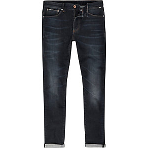 Dark wash selvedge Sid skinny jeans