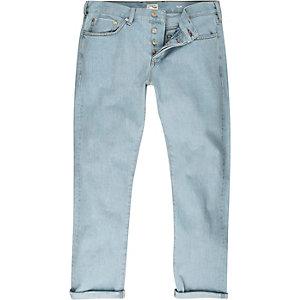 Light wash selvedge Sid skinny jeans