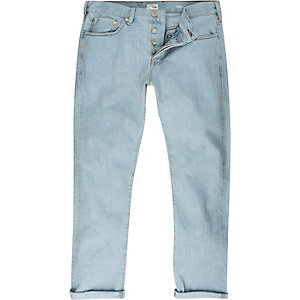 Light wash selvedge Sid skinny jeans