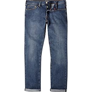 Mid wash Dylan slim selvedge jeans