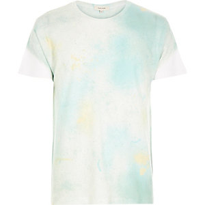 Faded green paint splash t-shirt