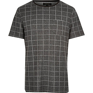 Dark grey check t-shirt