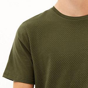 Green dotty textured t-shirt