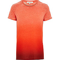 Orange faded print t-shirt
