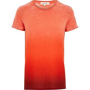 Orange faded print t-shirt