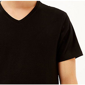 Black dotty texture t-shirt