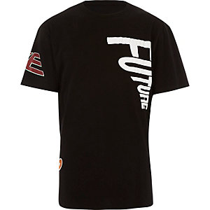 Black Christopher Shannon patch t-shirt
