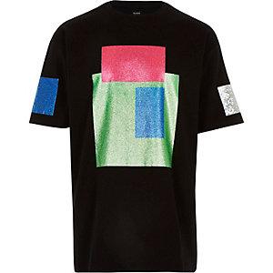 Black Christopher Shannon glitter t-shirt