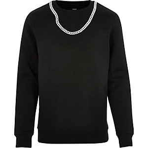 Black Christopher Shannon chain sweatshirt