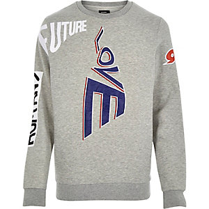 Grey Christopher Shannon slogan sweatshirt