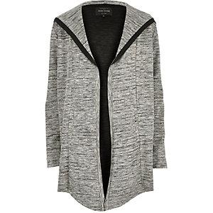 Grey marl slouchy cardigan