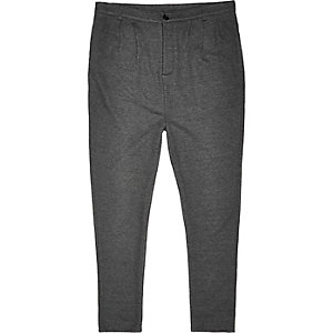 Dark grey jersey trousers