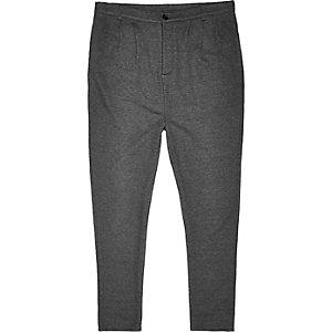 Dark grey jersey trousers