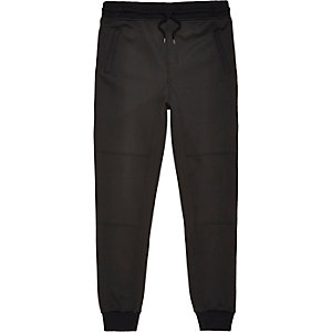Black neoprene jogger trousers