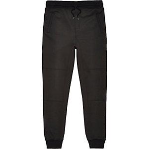 Black neoprene jogger trousers