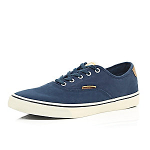 Blue Jack & Jones lace up plimsolls