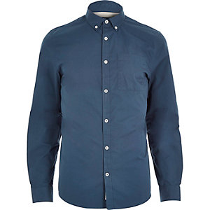 Blue twill shirt