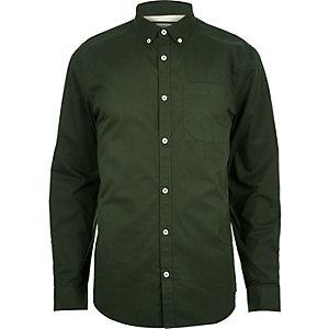 Khaki green twill shirt