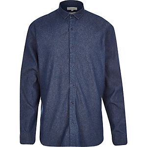 Dark blue denim shirt
