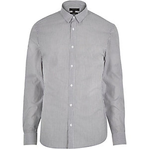 White smart stripe shirt