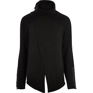Black asymmetric front jumper