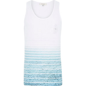 White sea stripe print vest