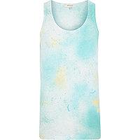 Light blue paint splatter vest