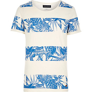 White Jack & Jones Vintage leaf t-shirt