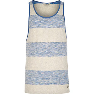 Blue Jack & Jones Vintage washed stripe vest