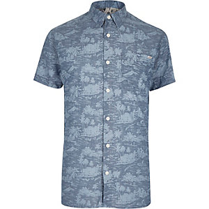 Blue Jack & Jones Vintage Hawaiian shirt