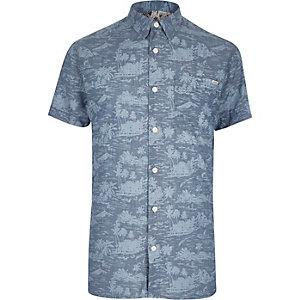 Blue Jack & Jones Vintage Hawaiian shirt