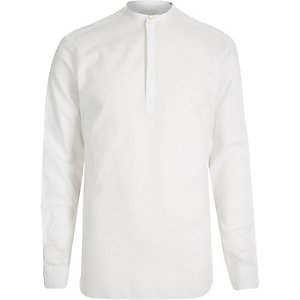White Jack & Jones Vintage grandad shirt