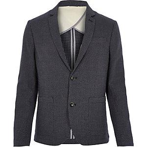 Navy Jack & Jones premium pattern blazer