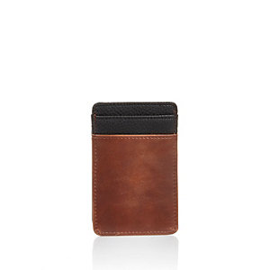 Light brown and black cardholder