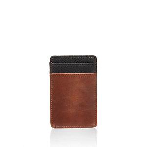 Light brown and black card holder
