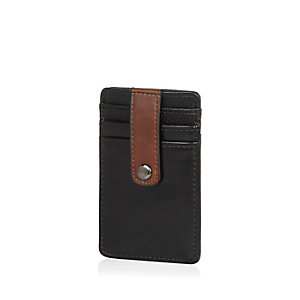 Brown textured card holder