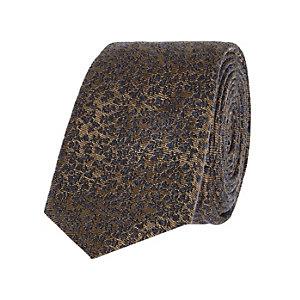 Golden ditsy print tie