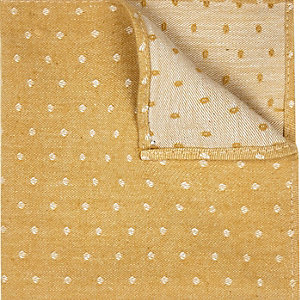 Gold polka dot pocket square