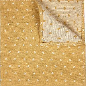 Gold polka dot pocket square