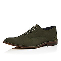 Dark green nubuck brogues